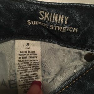 American eagle super skinny stretch jeans